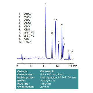 Cannsep A HPLC-Säule 2,1x150mm 5µm 100A